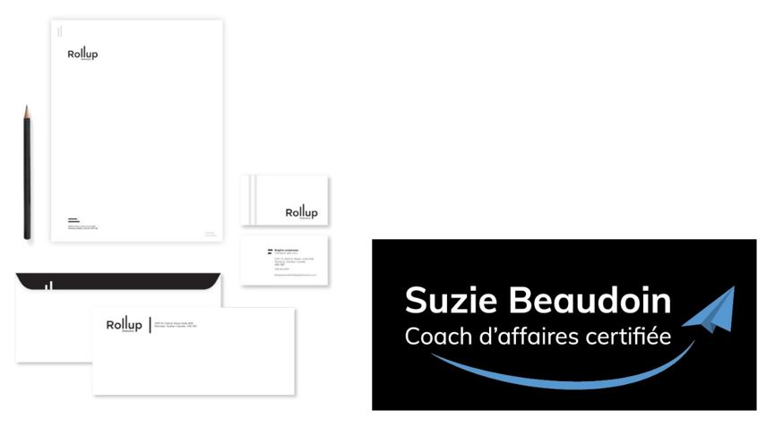Something more corporate, declination of logos on stationery and business cards for Roll-Up and me :)